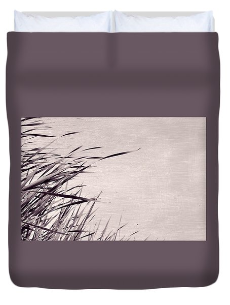 Duvet Cover featuring the photograph River Grass by Michelle Calkins