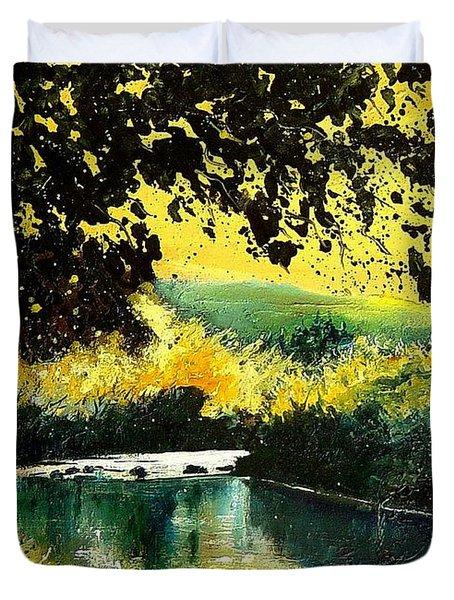 River Houille  Duvet Cover by Pol Ledent