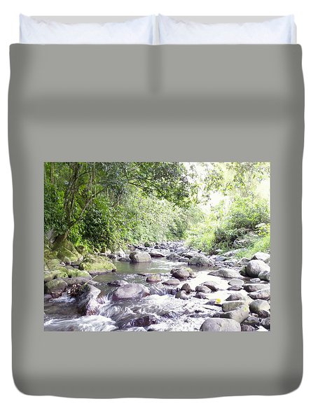 River In Adjuntas Duvet Cover