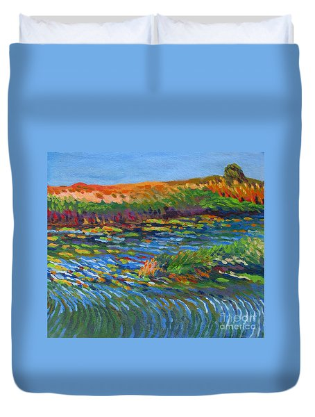 River In Bloom Duvet Cover by Vanessa Hadady BFA MA