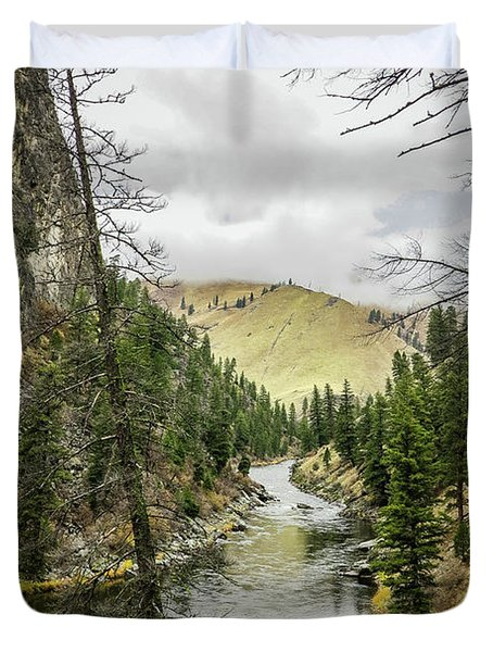 River In The Canyon Duvet Cover