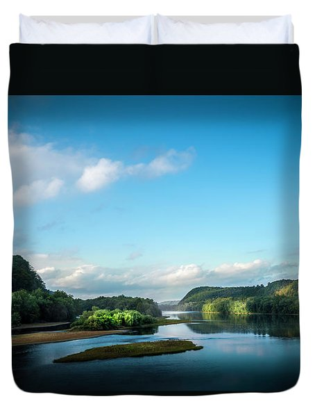 Duvet Cover featuring the photograph River Islands by Marvin Spates