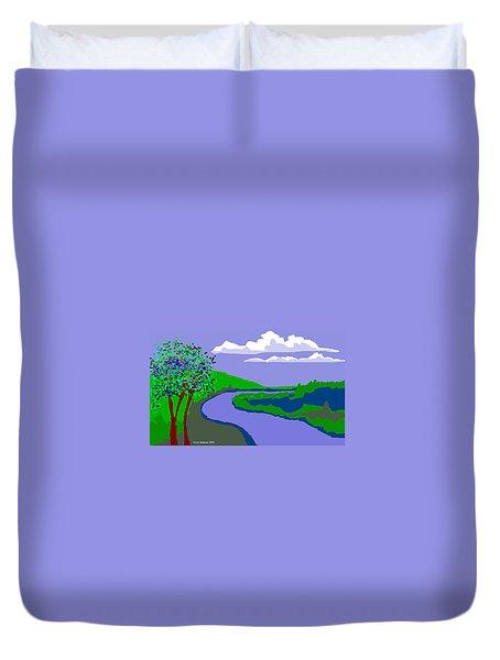 River Landscape Duvet Cover