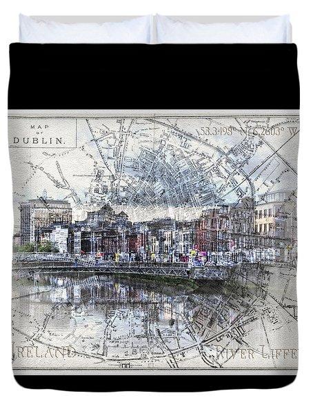 River Liffey Dublin Duvet Cover