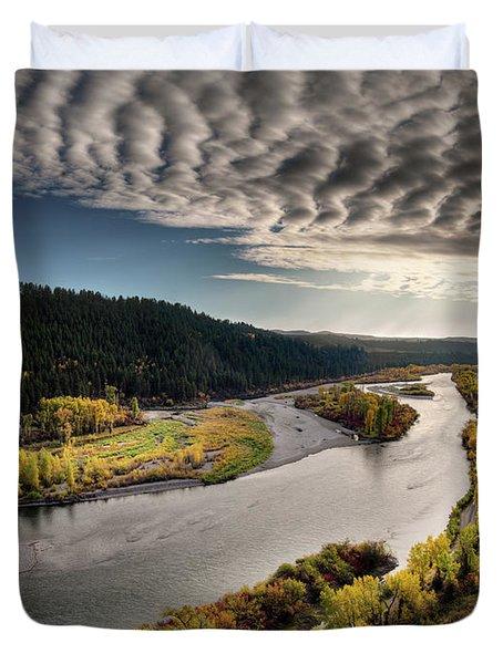 River Light Duvet Cover by Leland D Howard