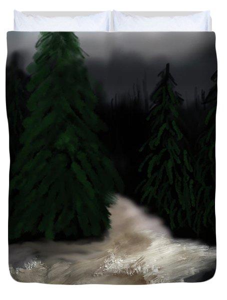River North Carolina  Duvet Cover