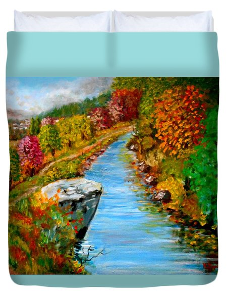 River Lousios  Duvet Cover