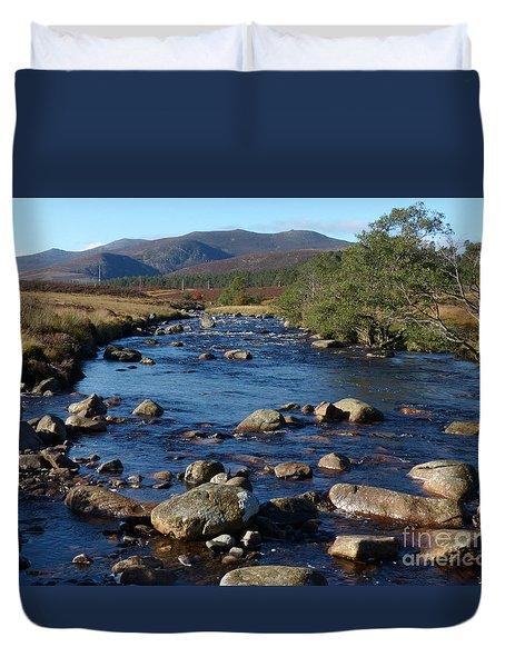 River Muick And Conachcraig Duvet Cover