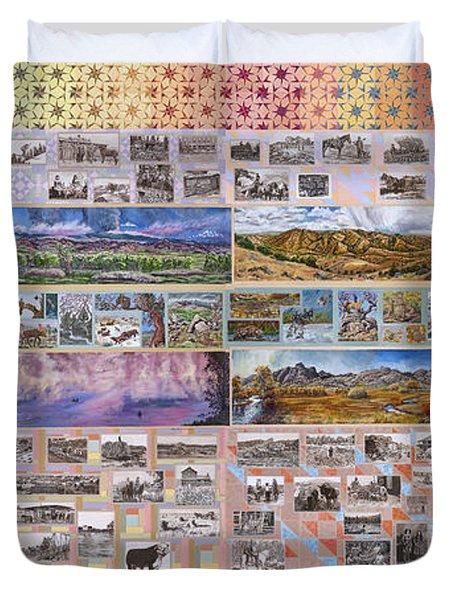 River Mural Complete Duvet Cover by Dawn Senior-Trask