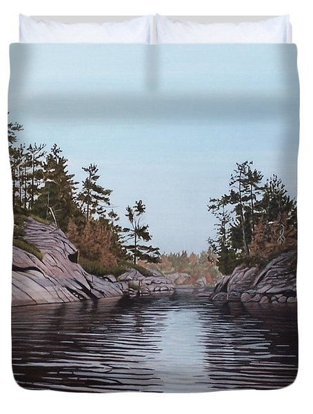 River Narrows Duvet Cover
