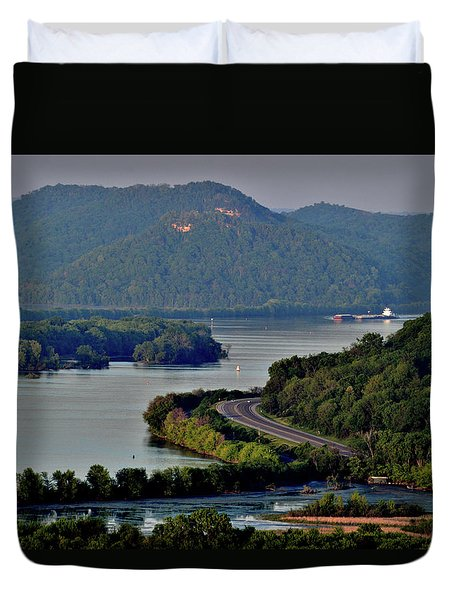 River Navigation Duvet Cover