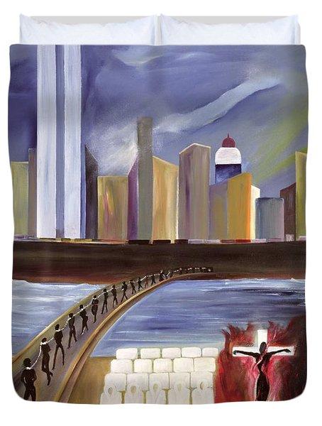 River Of Babylon  Duvet Cover by Ikahl Beckford