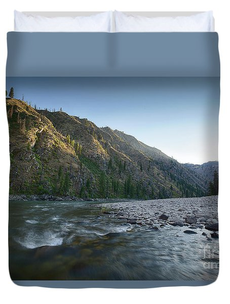 River Of No Return Duvet Cover by Idaho Scenic Images Linda Lantzy