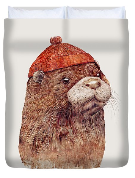 River Otter Duvet Cover by Animal Crew