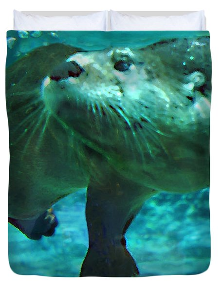 River Otter Duvet Cover