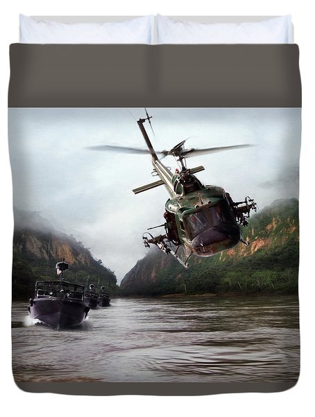 River Patrol Duvet Cover by Peter Chilelli