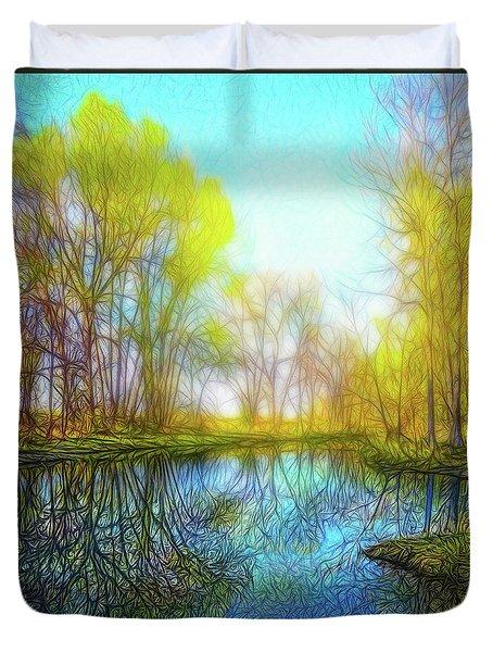 River Peace Flow Duvet Cover