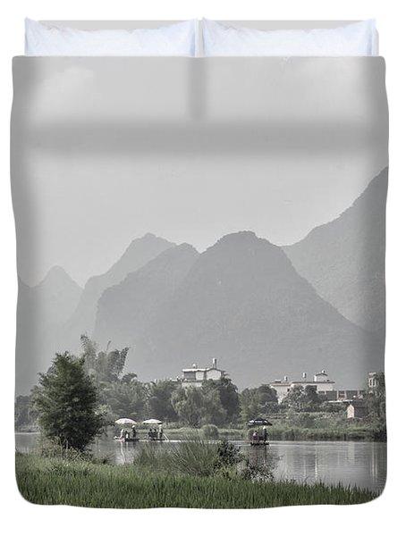 River Rafting Duvet Cover