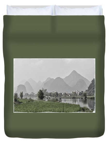 River Rafting Duvet Cover