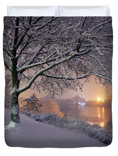 River Road  Duvet Cover by Emmanuel Panagiotakis