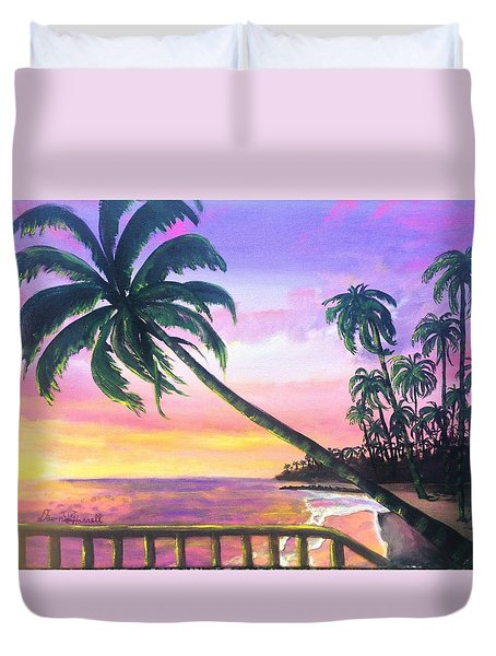 River Road Sunrise Duvet Cover