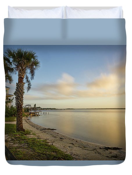 River Road  Sunrise  Duvet Cover