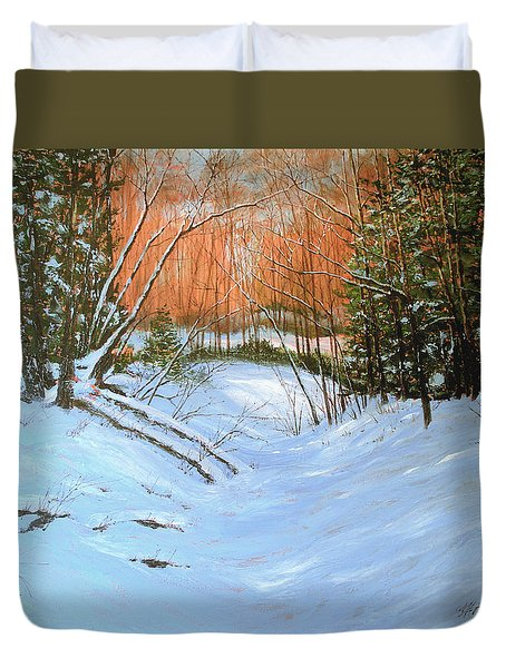 River Road Winter Duvet Cover