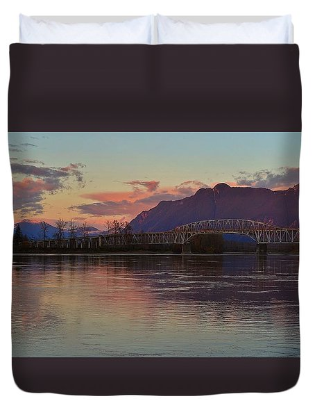 Fraser River, British Columbia Duvet Cover