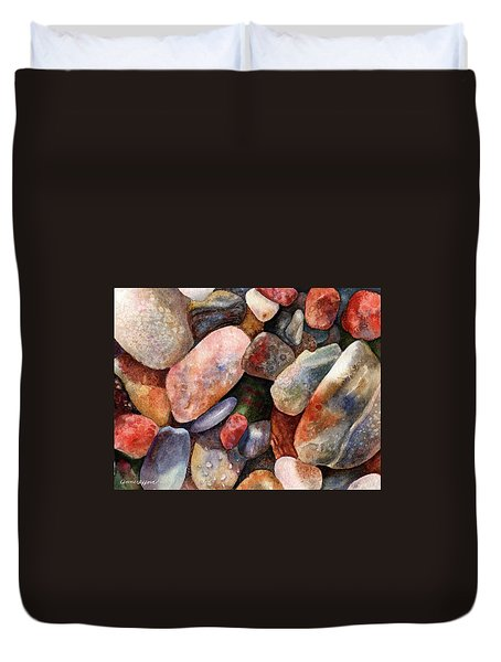 River Rocks Duvet Cover