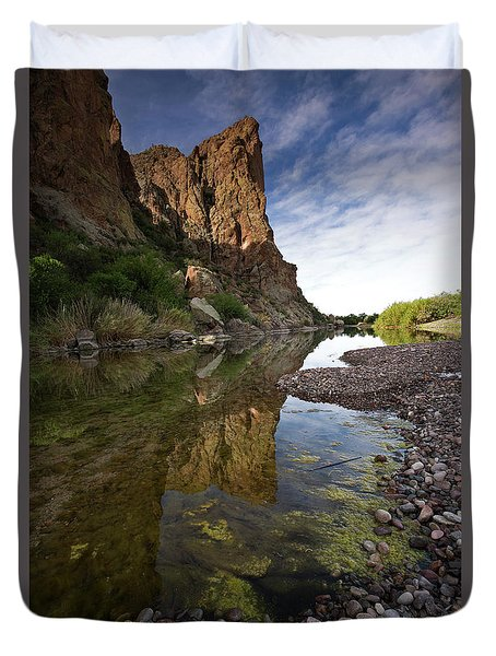 River Serenity Duvet Cover by Sue Cullumber