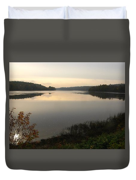 River Solitude Duvet Cover