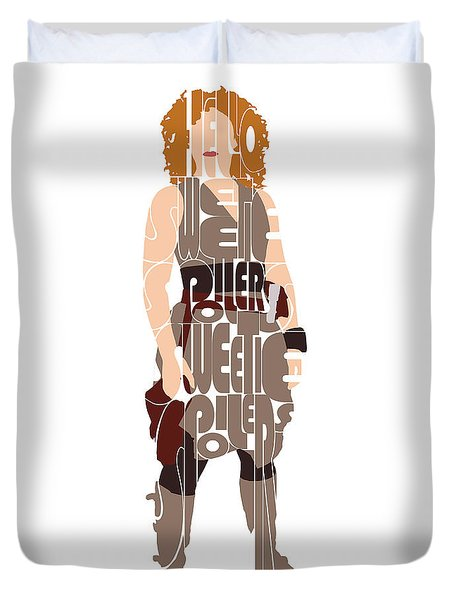 Duvet Cover featuring the digital art River Song by Jean Haynes