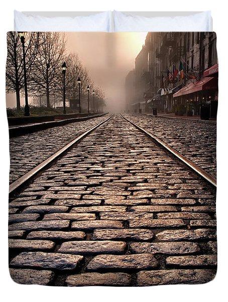 River Street Railway Duvet Cover