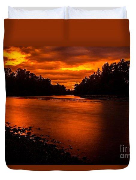 River Sunset 2 Duvet Cover