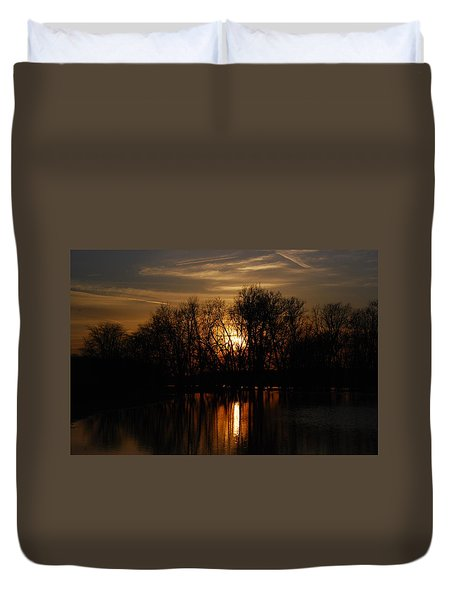 River Sunset Duvet Cover