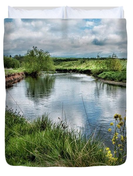 River Tame, Rspb Middleton, North Duvet Cover by John Edwards
