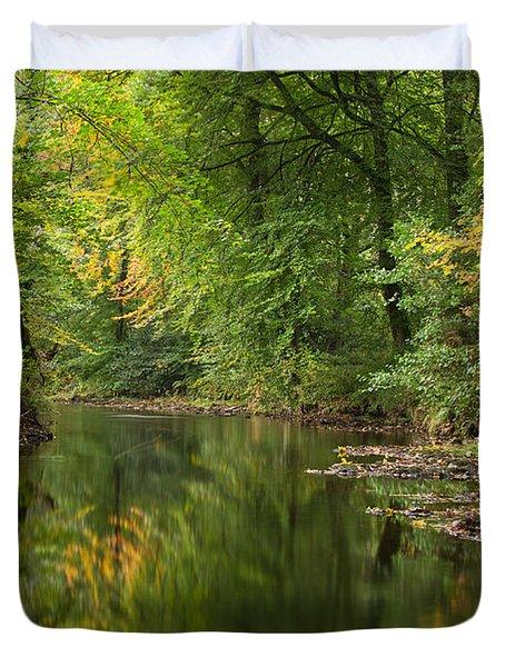 River Teign On Dartmoor Duvet Cover