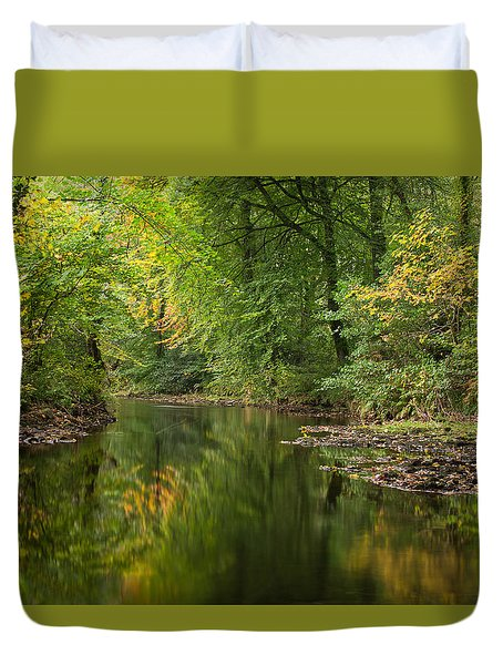 River Teign On Dartmoor Duvet Cover