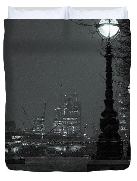 River Thames Embankment, London 2 Duvet Cover