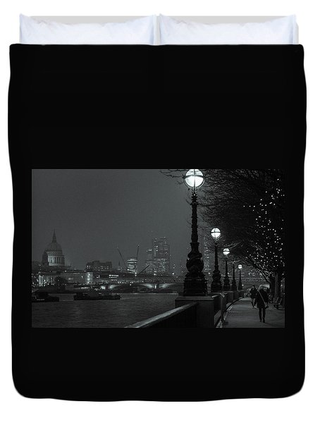 River Thames Embankment, London 2 Duvet Cover