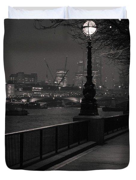 River Thames Embankment, London Duvet Cover