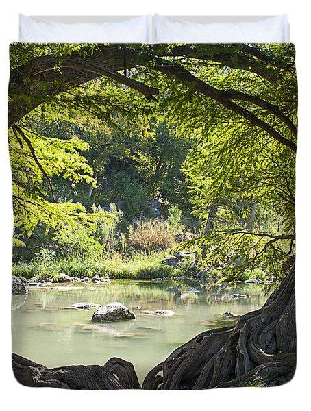 River Through Trees Duvet Cover