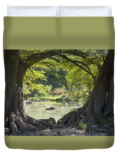 River Through Trees Duvet Cover