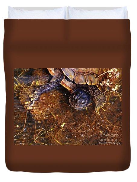 River Turtle Duvet Cover