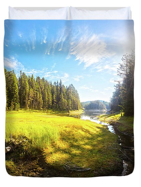 River Valley Duvet Cover by Evgeni Dinev