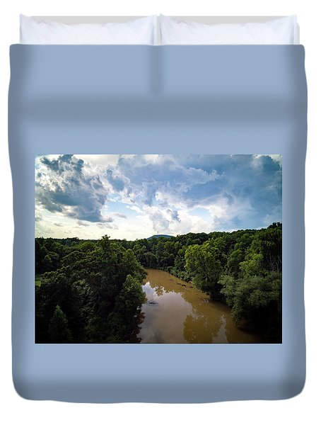 River View From Above Duvet Cover
