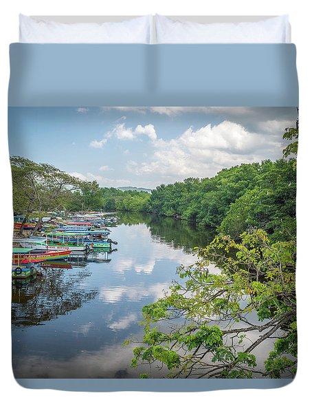 River Views In Negril, Jamaica Duvet Cover