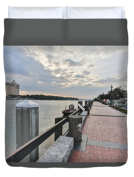 River Walk Path Duvet Cover