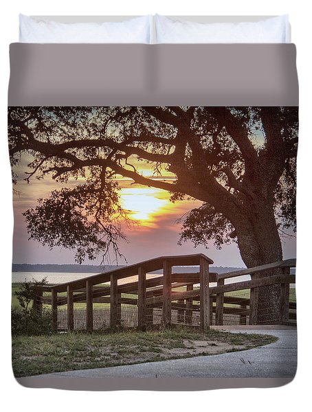 River Walk Duvet Cover