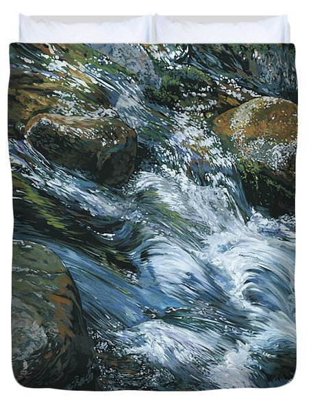 River Water Duvet Cover by Nadi Spencer